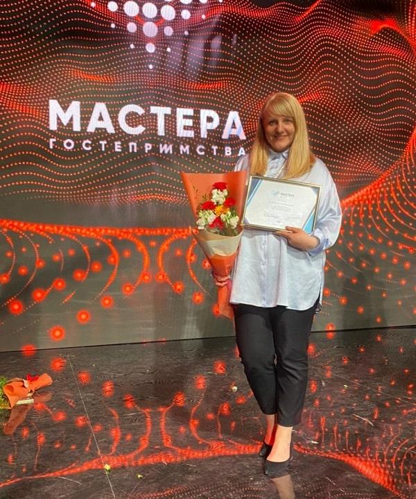 """Марина Ус директор """"Аквамарин"""" победительница """"Мастера гостеприимства"""" 2021"""